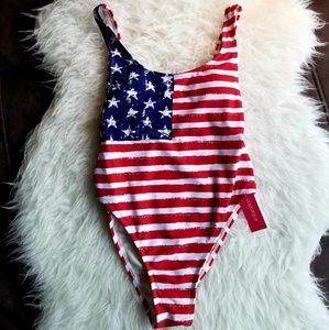 Xhilaration USA One Piece Swimsuit Size S